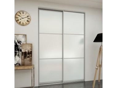 Дверь купе комбинированные с зеркалами и стеклами.