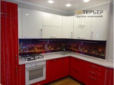Кухня угловая МДФ глянец на заказ 3100*2100 мм. knzak-100004