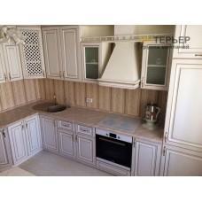 Угловая кухня МДФ патина на заказ 1600*3500 мм knzak-100005