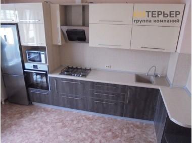 Кухня угловая МДФ глянец на заказ 3800*1600 мм. knzak-100018