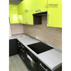 Угловая кухня Акрил на заказ 1600*3000 мм knzak-100006