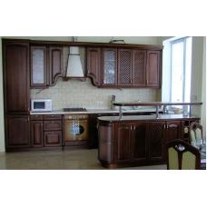 Кухня классического стиля с островом на заказ 4400*2300 мм knzak-100020