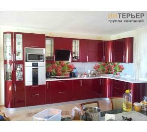 Кухня угловая МДФ металлик на заказ 3900*2100 мм. knzak-100001