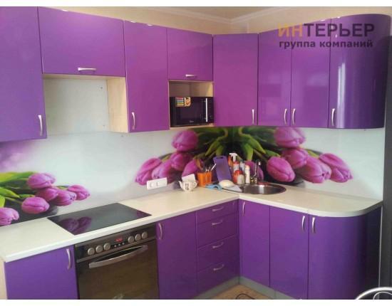 Купить Кухня угловая МДФ глянец на заказ 1500*2600 мм. knzak-100014 в Томске