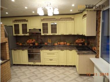 Кухня угловая МДФ с фрезеровкой на заказ 4900*1600 knzak-100002
