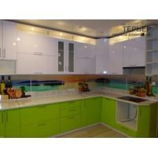 Кухня угловая МДФ глянец на заказ 3250*2000 мм. knzak-100003