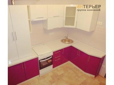 Кухня угловая МДФ глянец на заказ 1700*2600 мм. knzak-100015